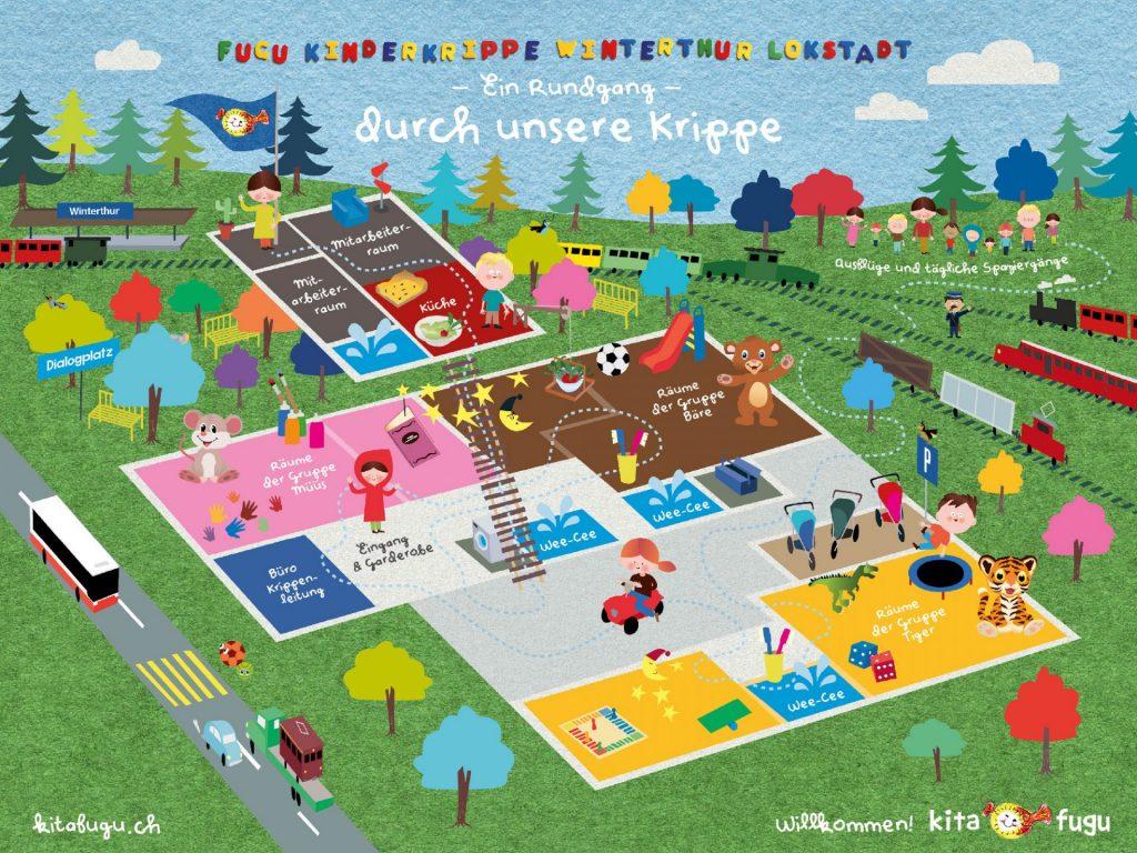 kita fugu Winterthur Lokstadt - Ihre Kinderkrippe mit Herz - unsere Räumlichkeiten
