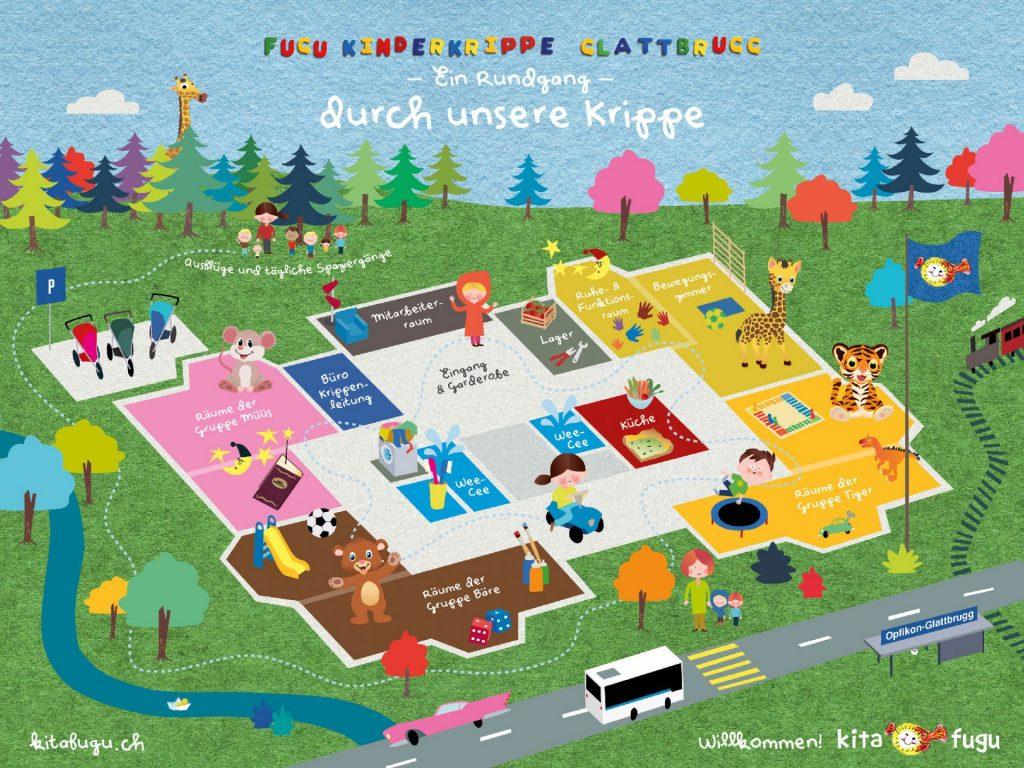 Räumlichkeiten Fugu Kinderkrippe Glattbrugg - in der kitafugu in Glattbrugg haben wir super viel Platz